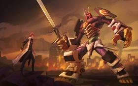 Обои robot, anime, art, Yu-Gi-Oh, Gattai Guardian, Seto Kaiba