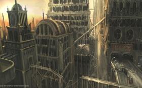 Картинка город, concept, руины, fallout, art