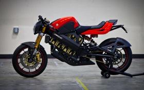 Обои черный, мотоцикл, красно, спортивный, мотор.