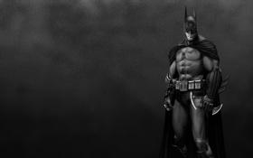 Картинка черно-белый, Бэтмен, Batman, суровый
