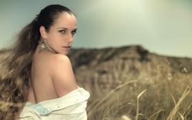 Картинка трава, Девушка, girl, woman