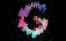 Обои цвета, абстракция, темный фон