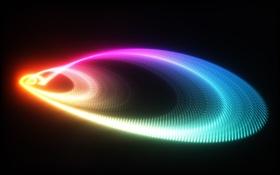 Картинка Абстракция, разноцветная, спиралевидная