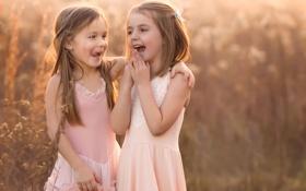 Обои девочки, смех, Giggles