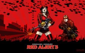 Обои СССР, Red Alert 3, Наташа, Дирижабли, Призывник