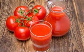 Обои стол, сок, стаканы, помидоры, томатный, кув шин