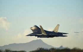 Обои истребитель, малозаметный, многоцелевой, F-22 Raptor