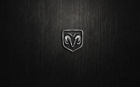 Обои logo, silver, dodge
