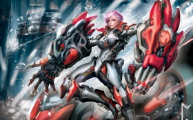 Картинка League of Legends, skin, the Piltover Enforcer, Vi-Tech