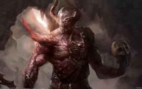 Картинка череп, монстр, демон, Xiao Botong