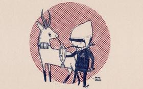 Обои фон, Рисунок, мальчик, нож, коктейль, платок, шапочка