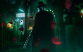 Картинка шляпа, лезвие, маска, street fighter, Capcom, fan art, vega