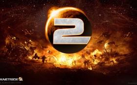 Обои игра, лого, Sony Online Entertainment, PlanetSide 2
