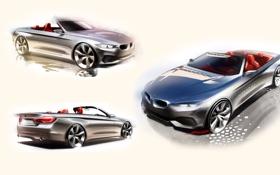 Обои бмв, BMW, кабриолет, Cabrio, 4-Series, F33
