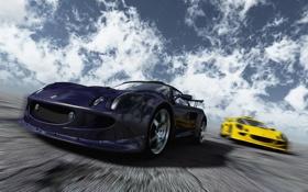 Обои авто, скорость, гонки, лотус, lotus