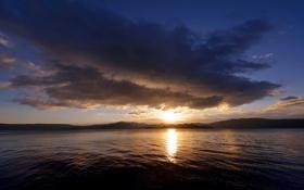 Обои озеро, Япония, остров Хонсю, кратерное. Товада