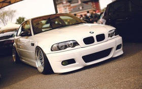 Картинка BMW, белая, перед, BBS, e46