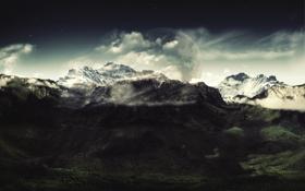 Обои левая, горы, Beautiful-View