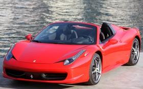 Обои машина, Ferrari, суперкар, передок, Spider, 458 Italia