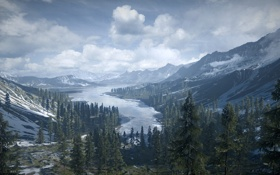 Картинка Природа, Battlefield 3, Armored Kill, лес горы