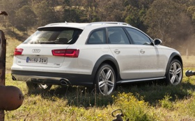 Обои белый, фон, Audi, Ауди, TDI, Allroad, quattro