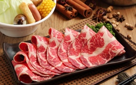 Обои мясо, корица, нарезка, специи, бадьян