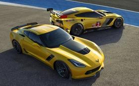 Обои Z06, Chevrolet Corvette, корвет, автообои, Race Car, C7-R