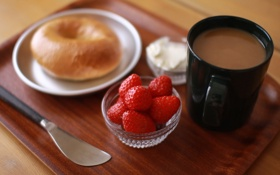Картинка кофе, еда, breakfast