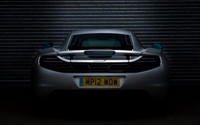 Картинка McLaren, серебристый, Макларен, MP4-12C, задок, silvery, ролеты