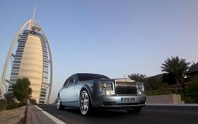 Обои пейзаж, город, Rolls-Royce, лимузин, ролс ройс