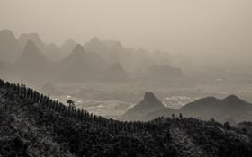 Картинка горы, природа, панорама, Китай