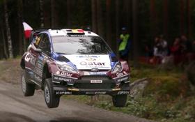 Обои Ford, Лес, Спорт, Скорость, Гонка, WRC, Rally