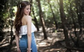 Картинка девушка, улыбка, настроение, азиатка