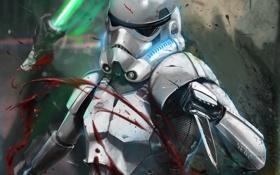 Обои кровь, Star Wars, арт, штурмовик, Звёздные войны, Nedojoe, shanktrooper