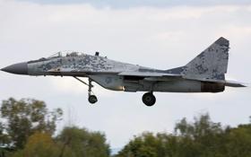 Обои истребитель, взлет, Fulcrum, MiG-29AS