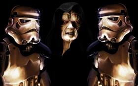 Обои star wars, stormtrooper, darth sidious