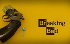 Обои сериал, револьвер, постер, Во все тяжкие, Breaking Bad