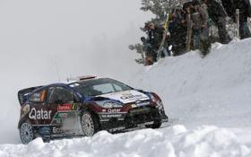 Обои Ford, Зима, Авто, Снег, Спорт, Люди, Форд