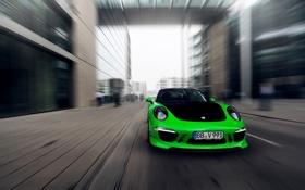 Обои 911, Porsche, Зеленый, Машина, Скорость, Порше, Carrera