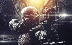 Обои воин, лук, crysis 3, video game