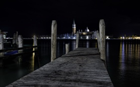 Обои night, Venice, San Giorgio Maggiori