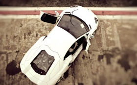 Картинка размытие, Lamborghini, cars, auto, эфект, Aventador LP700-4