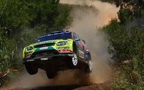 Картинка portugal, пыль, rally, focus, прыжок, jari-matti, latvala