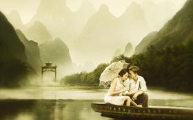 Картинка любовь, река, настроение, кино, фильм, романтика, кадр