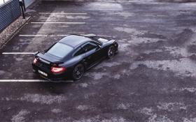 Обои Авто, Черный, 911, Porsche, Машина, Асфальт, GT2