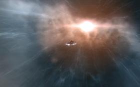 Картинка сияние, online, spaceship, сверхновая, eve, комос