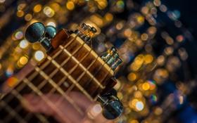 Картинка макро, фон, гитара