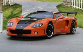 Обои оранжевый, Racing, orange, Factory, Five, GTM