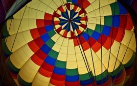 Обои воздушный шар, ткань, купол, сектор