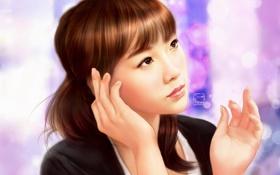 Обои snsd, taeyeon, азиатка, арт, girls generation, девушка